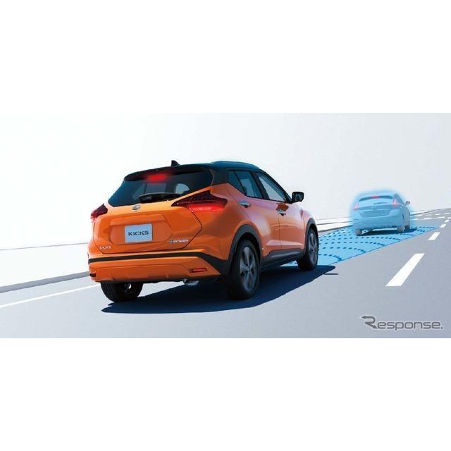「インテリジェント エマージェンシーブレーキ」前方車両や歩行者と接近した場合に注意を喚起し、衝突しそうなときは衝突回避操作を促す