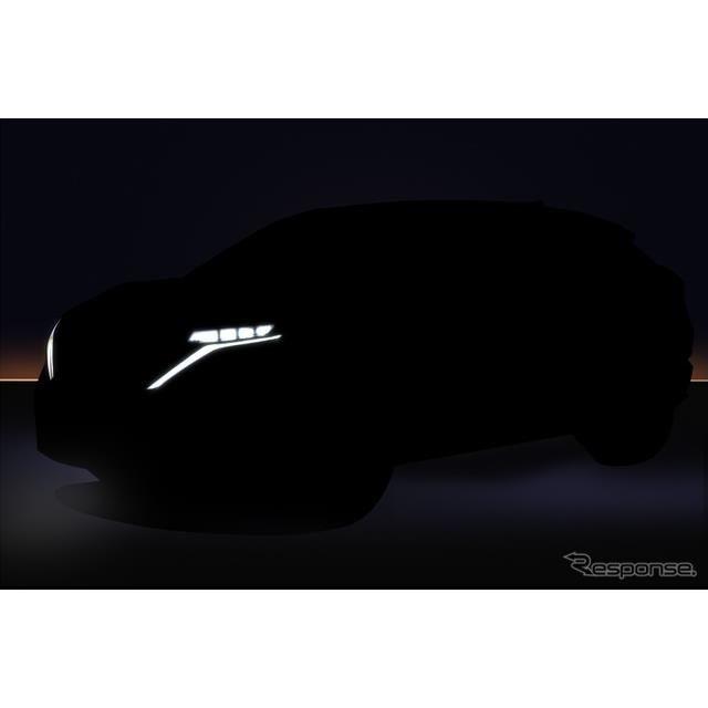 日産 アリア コンセプト の市販モデルのティザーイメージ