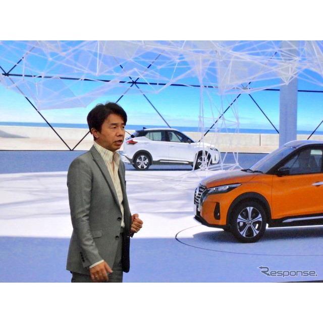 日産キックス新型のオンライン・プレゼンテーション、プログラムデザインディレクター入江慎一郎氏