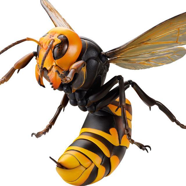 全長18cm、毒針出現ギミック搭載の海洋堂「リボジオ オオスズメバチ」