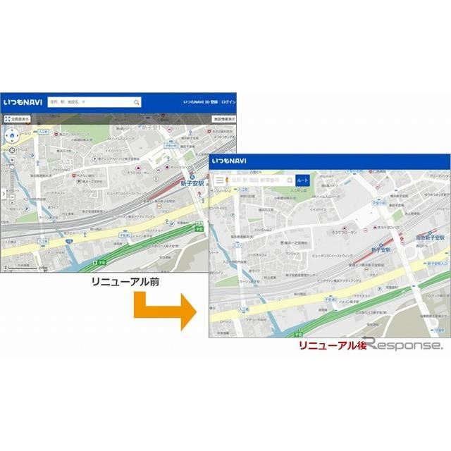 高解像度地図を適用し見やすくシンプルな地図に変更