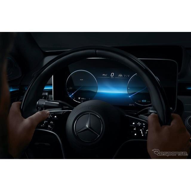 メルセデスベンツ Sクラス 次期型の新開発「3Dドライバーディスプレイ」