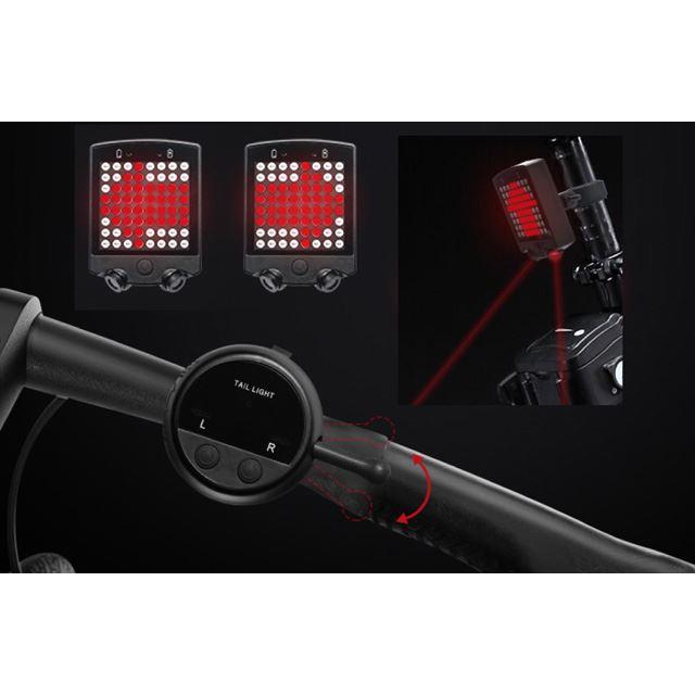自転車用リアランプ&レーザー車幅灯 MR-BICLT-03