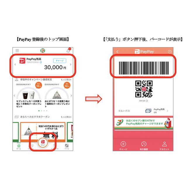 「セブン‐イレブンアプリ」に決済サービス「PayPay」を搭載