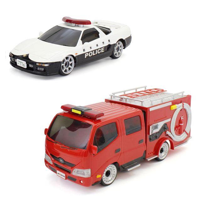 京商エッグ ラジオコントロールカー First MINI-Z Honda NSX 栃木県警察本部高速道路交通機動隊/First MINI-Z モリタ消防車 CD-I型ミラクルLight