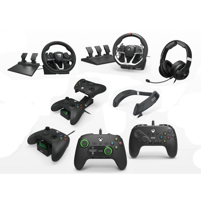 HORIPAD Pro、Fighting Commander OCTA、Racing Wheel OverDrive、Force Feedback Racing Wheel DLX、Gaming Headset Pro、3D Surround Gaming Neckset、Solo Charge Station