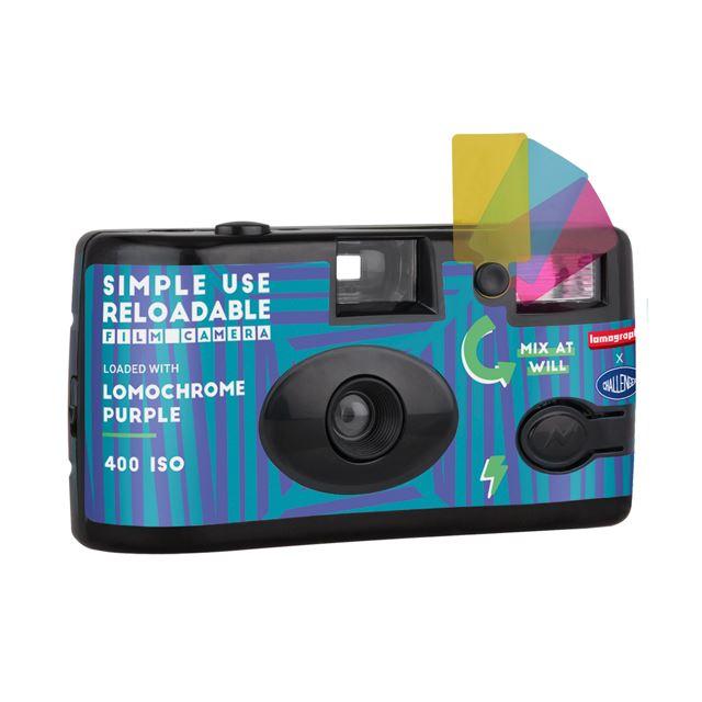 LOMOGRAPHY × CHALLENGER Simple Use Film Camera LomoChrome Purple