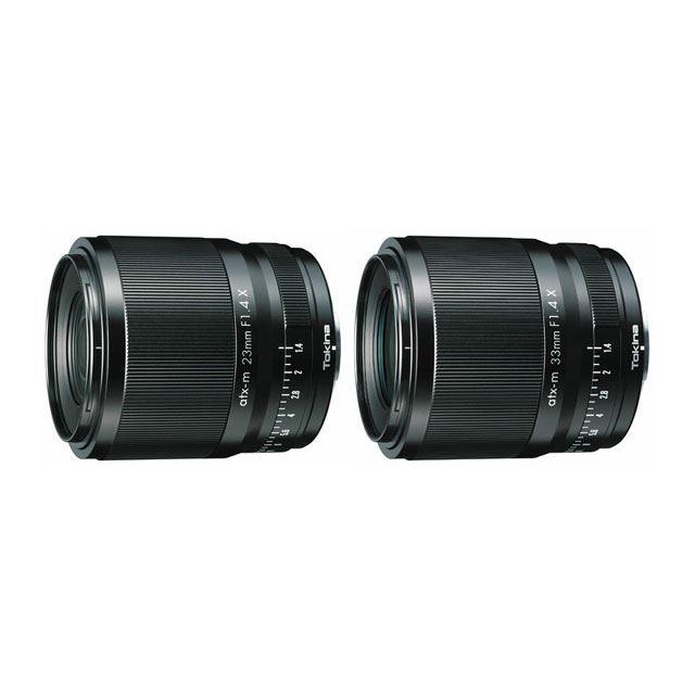「atx-m 23mm F1.4 X」および「atx-m 33mm F1.4 X」