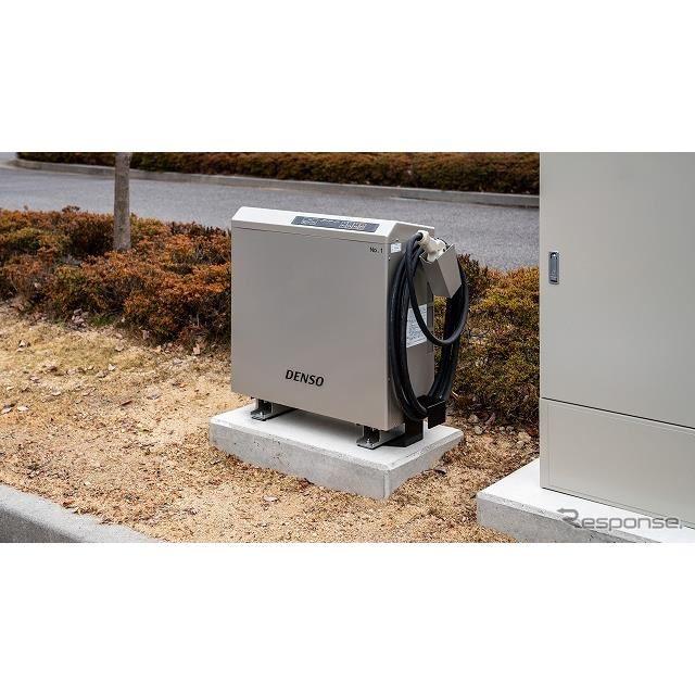 デンソー本社に設置されたV2H-充放電器