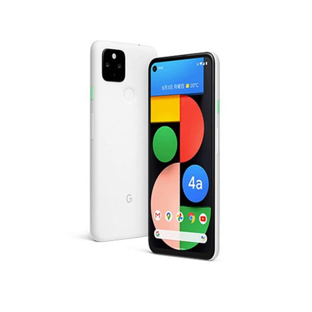 5Gスマホ「Pixel 4a(5G)」新色Clearly White