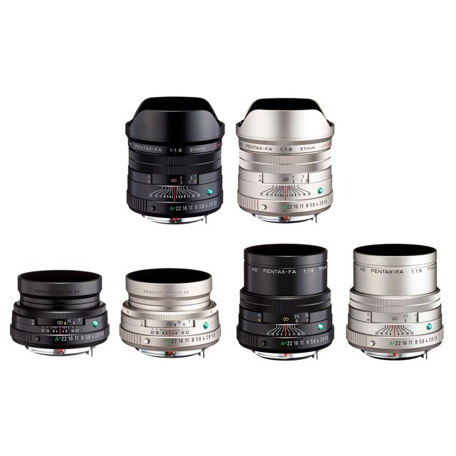 HD PENTAX-FA31mmF1.8 Limited、HD PENTAX- FA43mmF1.9 Limited、HD PENTAX-FA 77mmF1.8 Limited