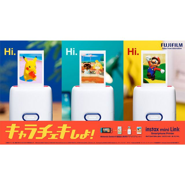 「instax mini Link for Nintendo Switch」