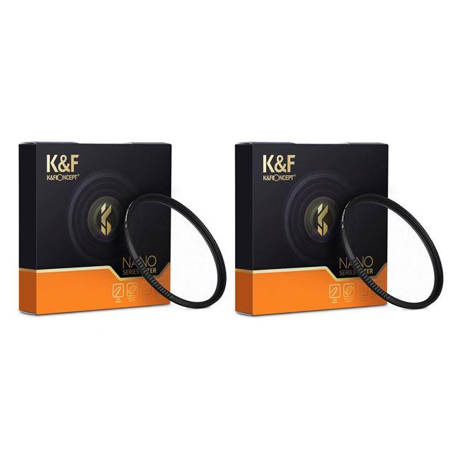 K&F Concept NANO-X ブラックディフュージョン 1/4 フィルター、1/8 フィルター