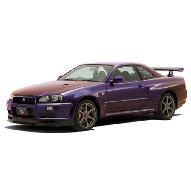 ニッサン R34スカイライン GT-R(ミッドナイトパープルIII)