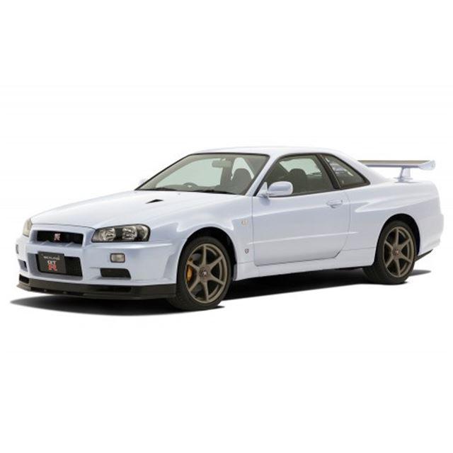 ニッサン R34スカイライン GT-R(ホワイト)