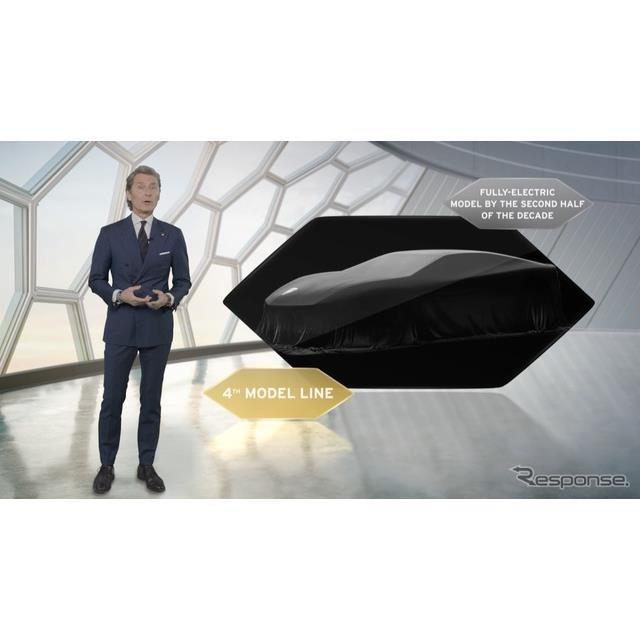 ランボルギーニの「コル・タウリ(Cor Tauri)」計画を発表するステファン・ヴィンケルマン社長兼CEO
