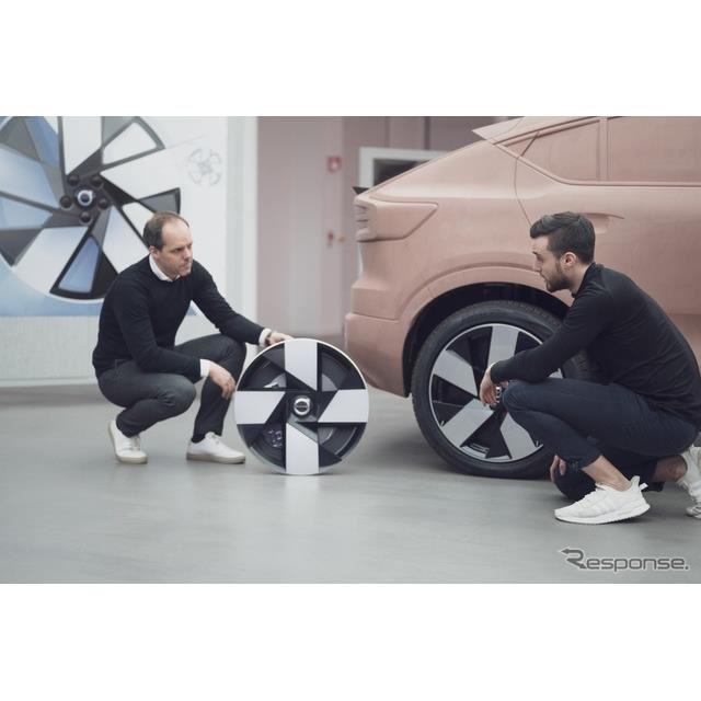 ボルボ C40 リチャージ のホイール。2018年のボルボ『360Cコンセプト』がモチーフ
