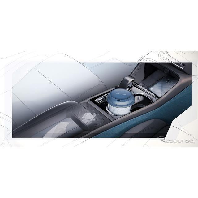 ボルボ C40 リチャージ の内装デザインスケッチ