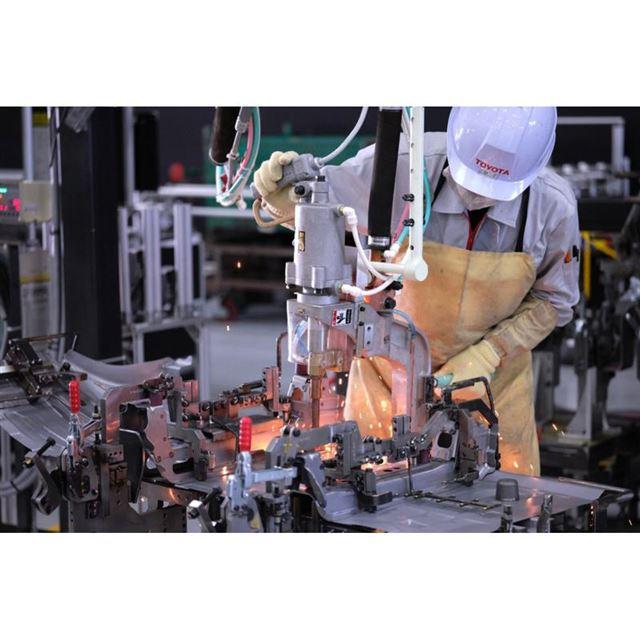 トヨタ元町工場における「GRヤリス」生産の様子。同車の開発・製造も「未来を拓く大切なものづくり...
