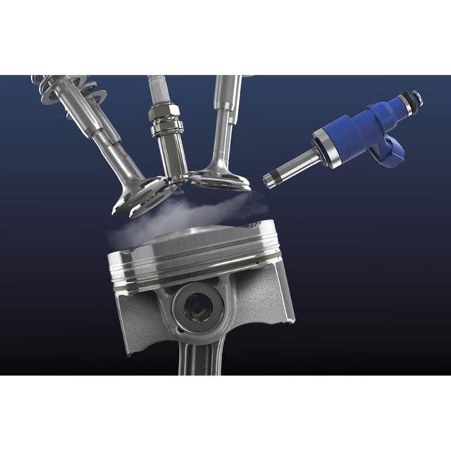 トヨタの水素直噴インジェクター。トヨタは燃料電池車にとどまらず、水素エンジンなどを開発し、エネ...