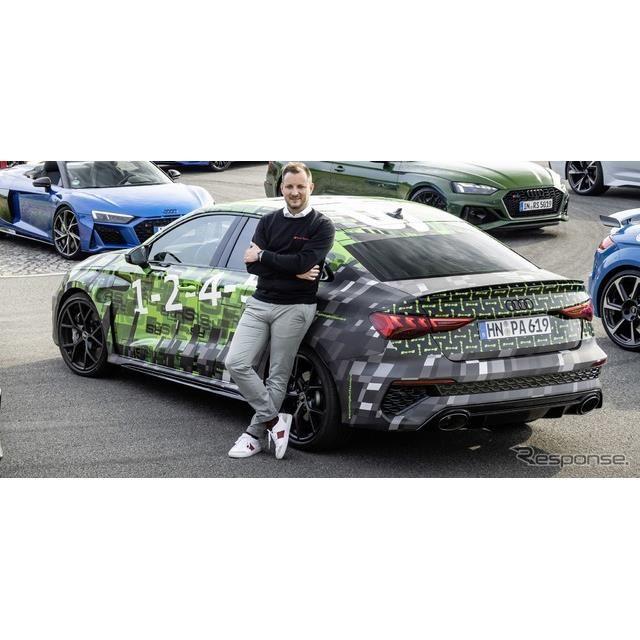 アウディ RS3 セダン 新型のプロトタイプ