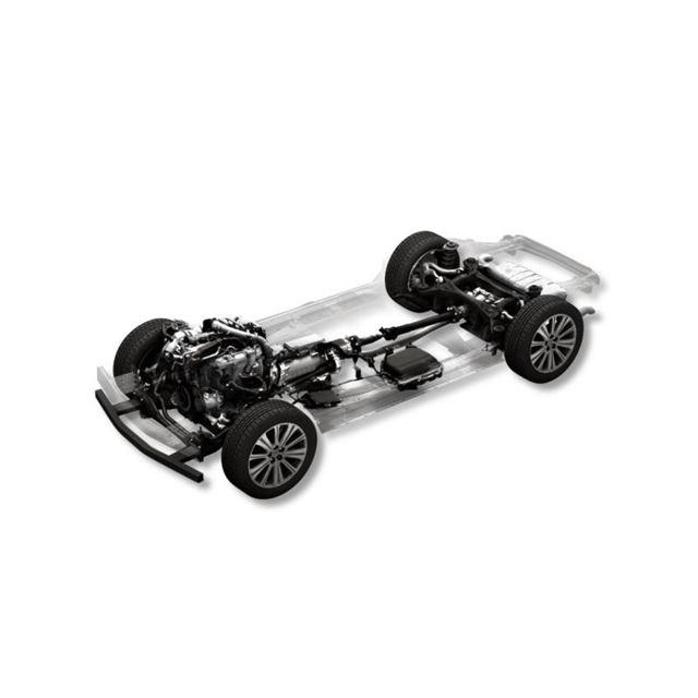 ラージ商品群の48Vマイルドハイブリッド採用ガソリンエンジン搭載車。