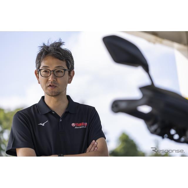 新型『トレーサー9 GT』のプロジェクトリーダー、ヤマハ発動機の北村悠主査