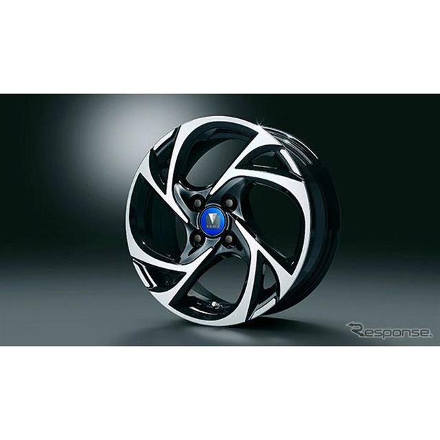 15インチ アルミホイールセットMODELLISTA SpinAir VI<ブラック×ポリッシュ>