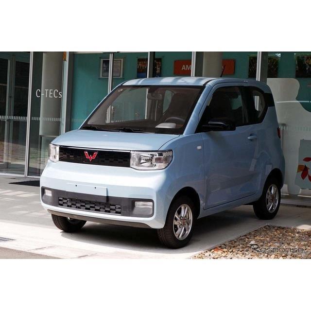 名古屋大学構内に展示された「宏光Mini EV」