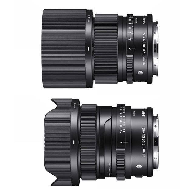 「SIGMA 90mm F2.8 DG DN | Contemporary」「SIGMA 24mm F2 DG DN | Contemporary」