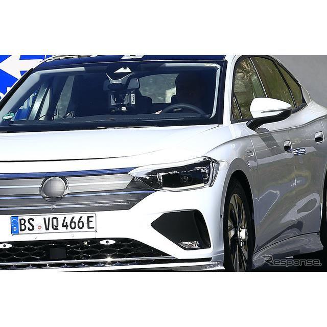 VW エアロB セダン(仮称)プロトタイプ(スクープ写真)