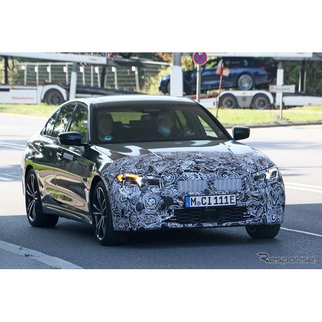 BMW 3シリーズ 改良新型プロトタイプ(スクープ写真)
