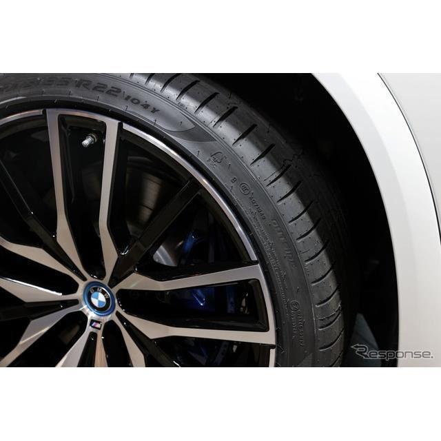 「FSC」(森林管理協議会)の認定を取得したピレリ「Pゼロ」。BMW X5 のPHVに純正装着(IAAモビリティ2021)