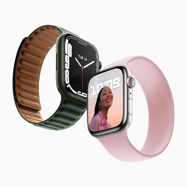 アップル、画面が大きくなった「Apple Watch Series 7」を今秋発売