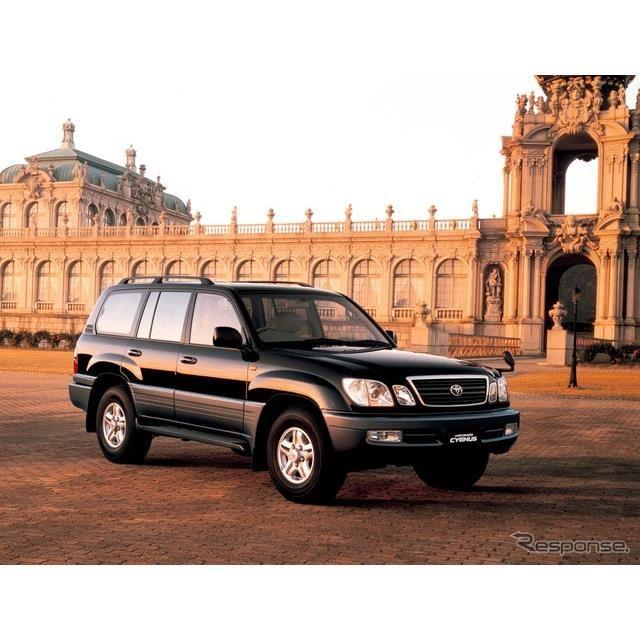 1998年:ランドクルーザー・シグナス。100系(ステーションワゴン)の最上級仕様で、レクサスLXと兄弟車。