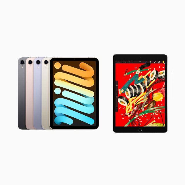 「iPad mini(第6世代)」「iPad(第9世代)」