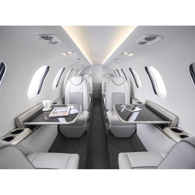 「ホンダジェット2600コンセプト」の機内の様子。
