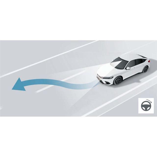 「ホンダセンシング360」には、車線変更時のステアリングサポート機能も含まれる。