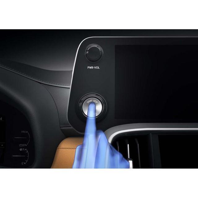 新型「LX」にはレクサス初となる指紋認証スタートスイッチが標準装備される。