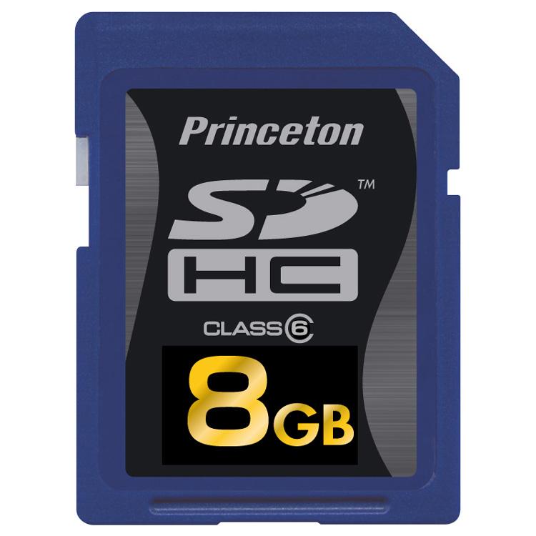 [PSDHC/6-8G] SDスピードクラス「Class6」に対応したSDHCカード(8GB)。市場想定価格は9,980円