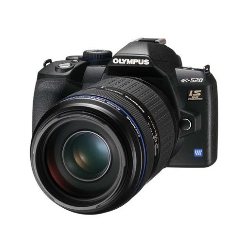 [E-520] ボディ内手ぶれ補正&ハイスピードイメージャAF採用ライブビュー搭載の1000万画素デジタル一眼レフカメラ。価格はオープン