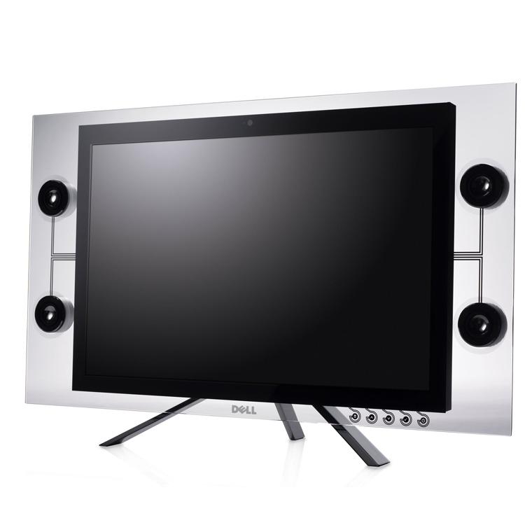 [DELL CRYSTAL] Webカメラやマイクを搭載した斬新なプロダクトデザインの22V型液晶ディスプレイ。直販価格は149,000円