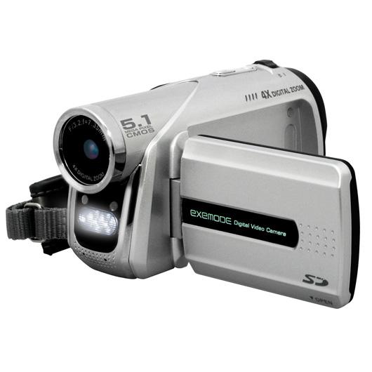 [EXEMODE DV505] 503万画素CMOSを搭載したMotion JPEGビデオカメラ 。市場想定価格は12,800円前後