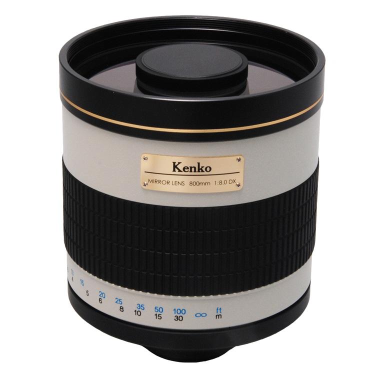 [ケンコーミラーレンズ800mmF8DX] 35mm判換算で800mmの超望遠レンズ(反射式/最短撮影距離3.5m)。価格はオープン