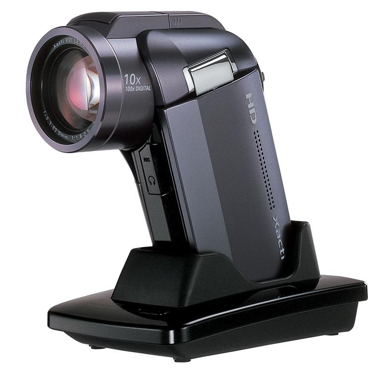 [Xacti DMX-HD1010] ビットレートの見直しなど高画質化を実現したフルHDハイビジョンムービー。市場想定価格は120,000円前後