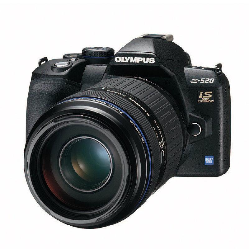 [E-520超望遠600mmキット] 「E-520」と「ZUIKO DIGITAL ED 70-300mm F4.0-5.6」や2GBのxD-ピクチャーカードなどを同梱したデジタル一眼キット。直販価格は109,800円(税込)