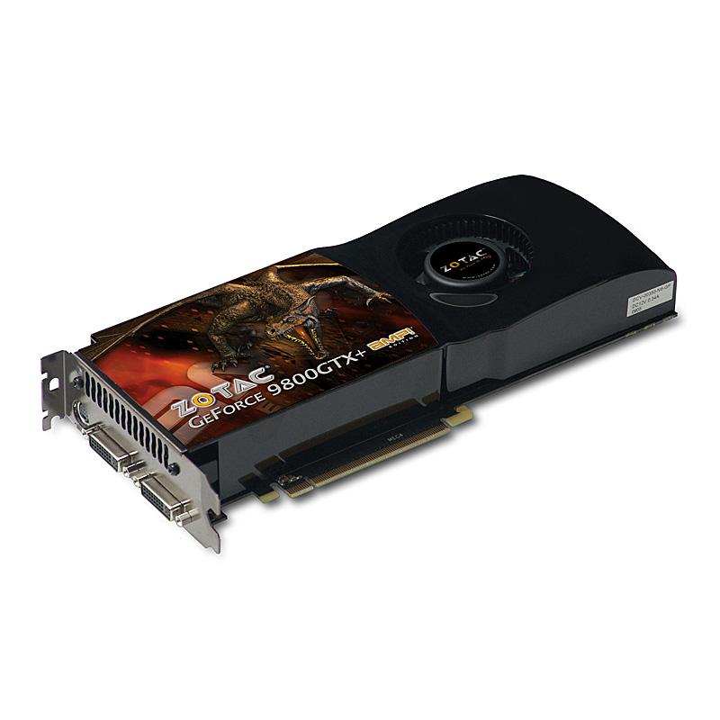 [ZOTAC GeForce 9800 GTX+AMP Edition VD3016] OC仕様のGeForce 9800 GTX+搭載PCI Express2.0 x16対応ビデオカード(GDDR3-SDRAM 512MB) 。価格はオープン