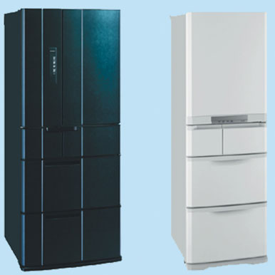 "[MR-E60P/MR‐B42P] 熱いまま""急っと""瞬冷凍を搭載した冷蔵庫。価格はオープン"