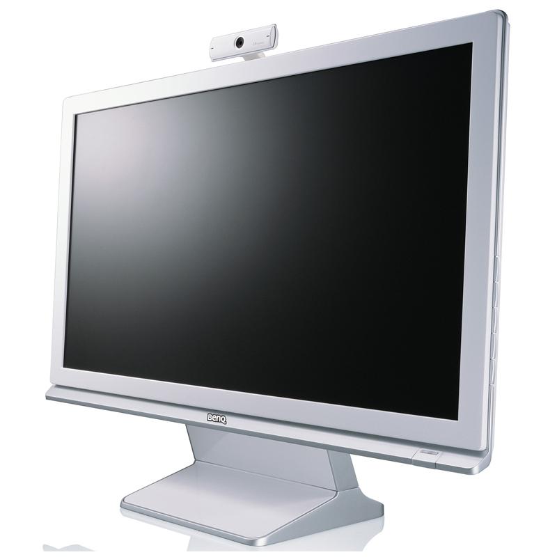 [M2200HD] 1080pのフルハイビジョン表示に対応した21.5型液晶ディスプレイ(Webカメラ付属)。市場想定価格は39,800円前後