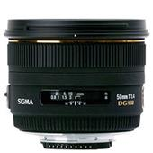 [50mm F1.4 EX DG HSM ニコン用] デジタル対応大口径標準レンズ(最短撮影距離45cm/ニコン用)。本体価格は60,000円